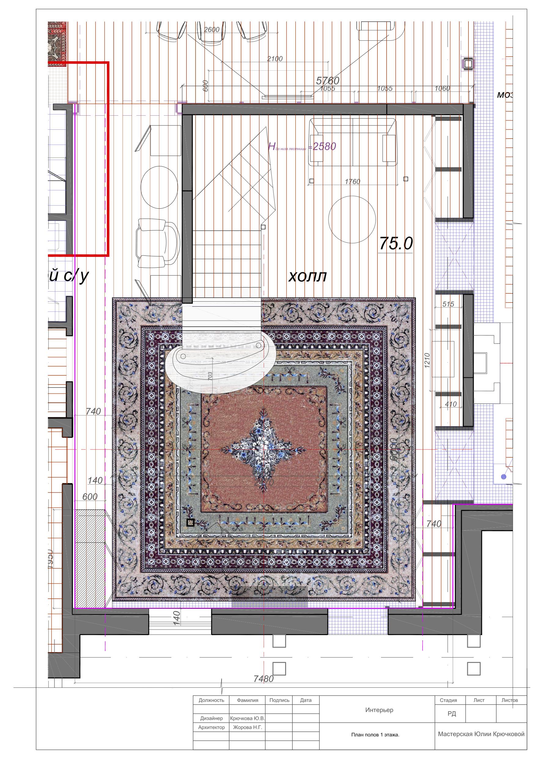 План полов 1этаж